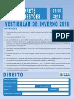 PUCCAMPINAS-Prova Direito Vestibular Inverno 2018