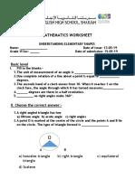 [Bin][181961]Mathematics Worksheet
