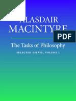 MAcintyre the Tasks of Philosophy