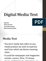 Digital Media Text