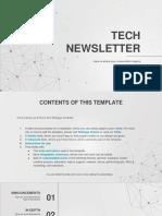 Tech Newsletter Power Point Download Saud