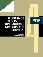 Cuaderno 4 Algoritmos de Las Operaciones Con Números Enteros. National Council of Teachers of Mathematics U. S. a.