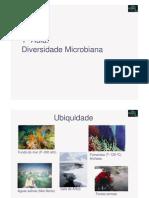 Microbiologia 1ª Aula - Diversidade Microbiana