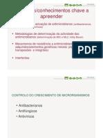 Microbiologia 5ª Aula - Antimicrobianos