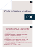 Microbiologia 9ª Aula - Metabolismo