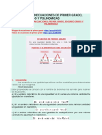 Ecuaciones e Inecuaciones de Primer Grado