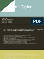 Cottle Taylor Marketing Elective Case