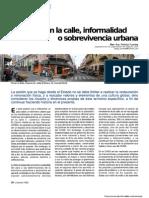 Comercio en La Calle, Informalidad o Sobrevivencia Urbana
