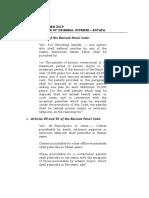 12 Nov 19 - Legal Memo - Prescription of Criminal Offenses