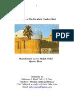 Biography Sheikh Abdul Quader Jilani