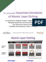 A Cellular Automata Simulation of Atomic Layer Etching Strotmann Et Al 1