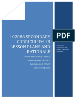 102088 secondary curriculum 1b lesson plans and rationale