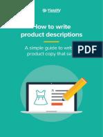 Writing Product Descriptions