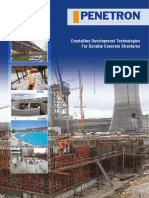 Penetron Crystalline Development Technologies For Durable Concrete Structures