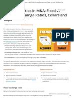 Exchange Ratios in M&A_ Fixed vs Floating Exchange Ratios,