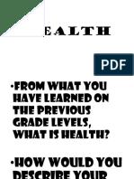 Health 3 grade 7