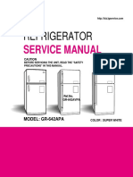 ServiceManuals LG Fridge GR642APA GR-642APA Service Manual