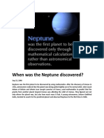 When was the Neptune discovered.doc