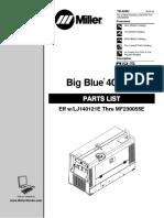 Manual Partes Miller Big Blue 400