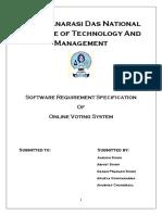 Online voting system SRS