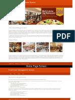 Python, Django and MySQL Project on Food Court Management System Screens