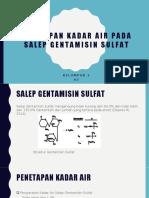 Penetapan Kadar Air Pada Salep Gentamisin Sulfat