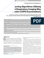 Machine Learning Algorithms Utilizing Functional Respiratory Imaging May Predict COPD Exacerbations