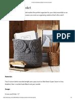 Crochet Owl Basket _ Better Homes & Gardens