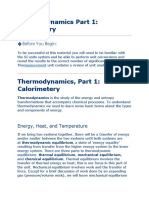 Thermodynamics Part 1
