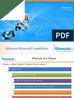 Dhanush Microsoft Presentation