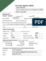 Acquisition Proposal - 3181 La Clede Ave Los Angeles CA 90039