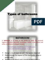 Types of Bathrooms