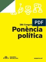 Ponència Política del 28è Congrés Nacional d'ERC