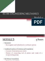 BE100 - Engineering Mechanics - Module 5