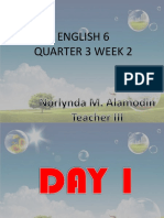 English 6 q3 w2 - Day 1