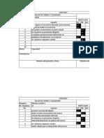 Check List Modelo 1
