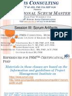 III PSM Scrum Artifacts