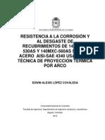RESISTENCIA A LA CORROSIÓN Y AL DESGASTE DE RECUBRIMIENTOS