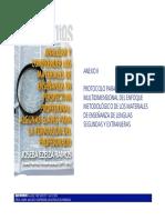 Protocolo Para Análisis Multidimensional de Materiales de Lengua