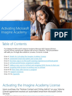 MS ImagineAcademy VolumeLicensing Activation