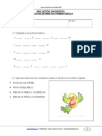 Evaluacion Diagnostica Matematica 1basico 2011