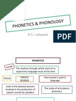 PPT Phonetics & Phonology