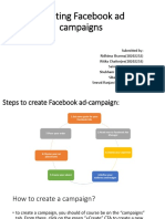 creating add campaign on facebook