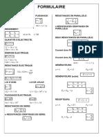 formulaire electrotechnique