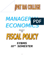 Fiscal Policy Final