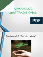 Farmakologi Obat Tradisional