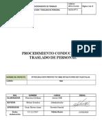 MTCH-PO-010 Procedimiento Conducción y Traslado de Personal Versión 5