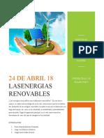 Ensayo energías renovables