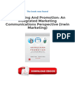 Integrated Marketing Communication Perspective Irwin