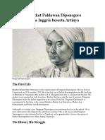 Biografi Singkat Pahlawan Diponegoro Dalam Bahasa Inggris Beserta Artinya
